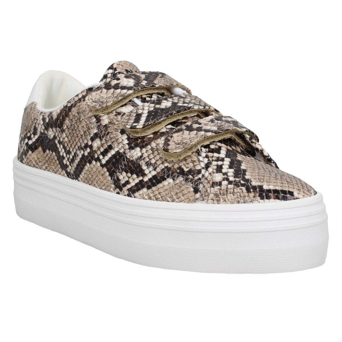 Baskets NO NAME Plato Straps print Femme Anaconda