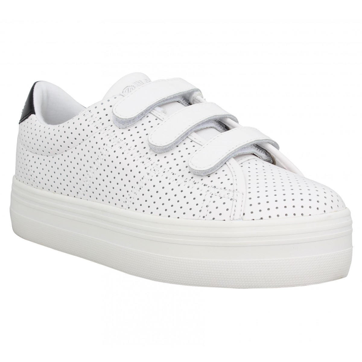 Baskets NO NAME Plato Straps punch Femme Blanc