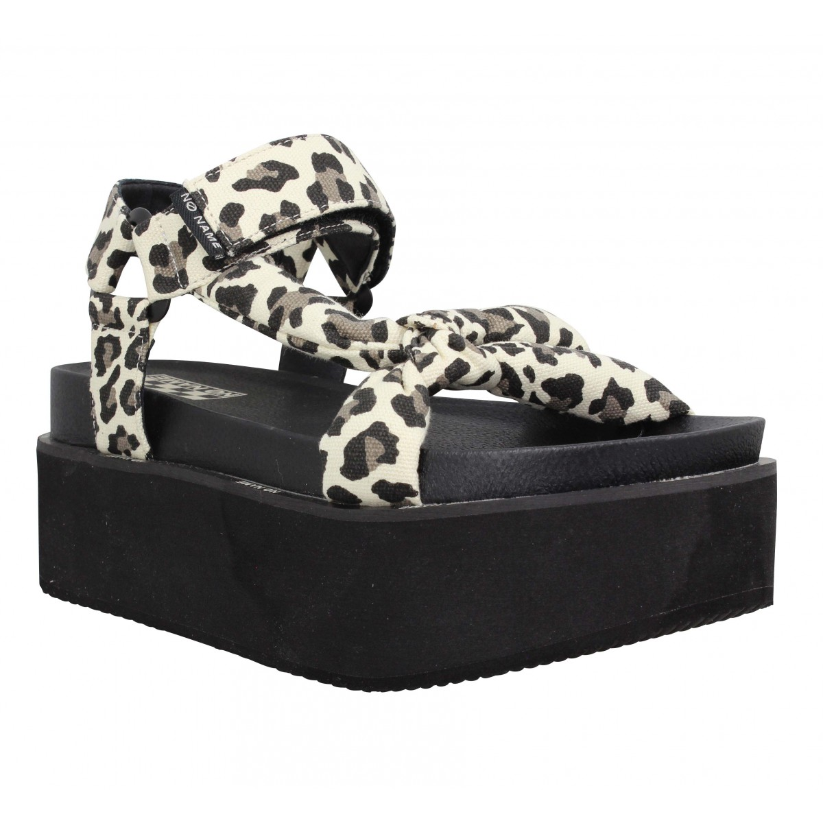 Nu-pieds NO NAME Poppy Sunset toile Femme Guepard