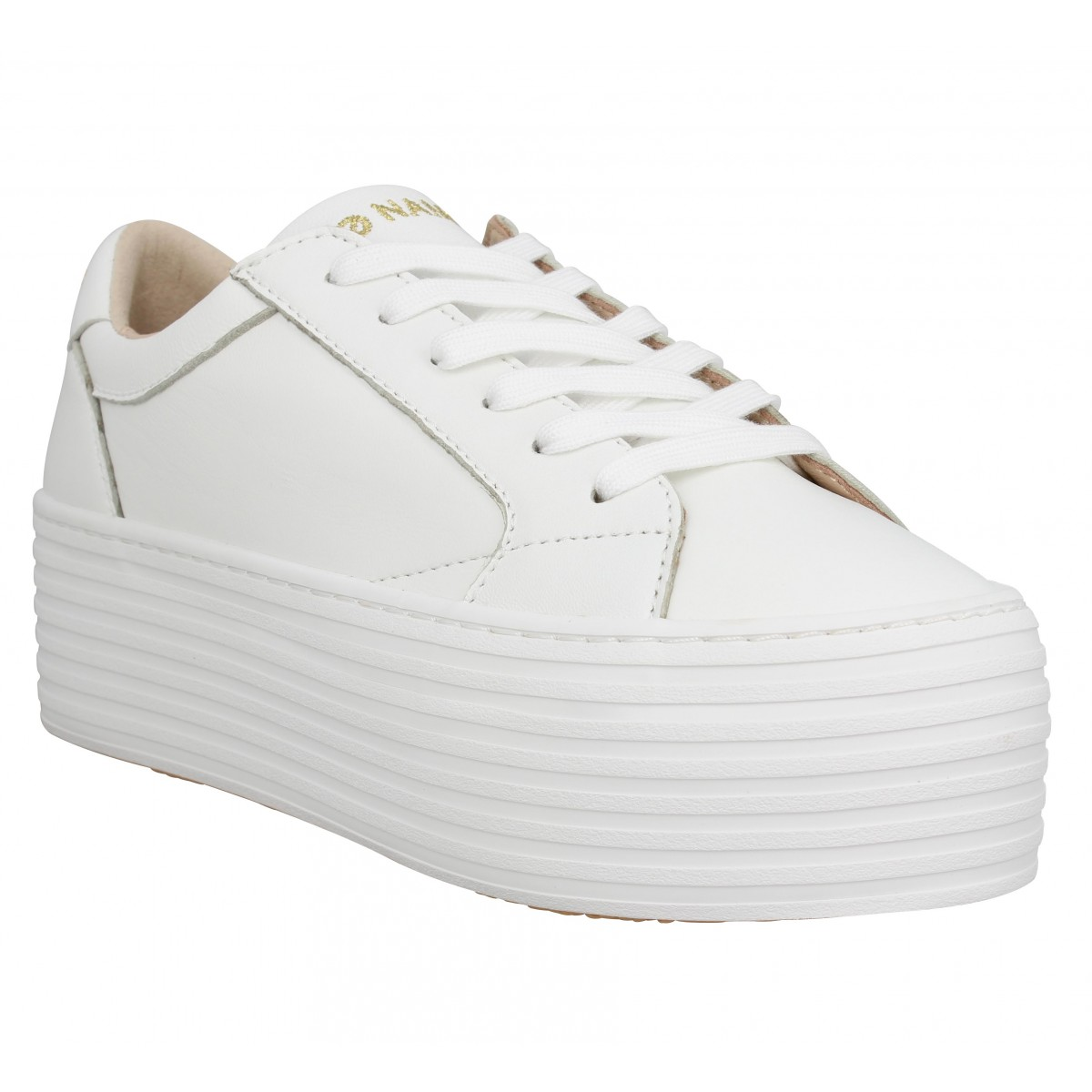 Baskets NO NAME Spice Sneaker cuir Femme Blanc