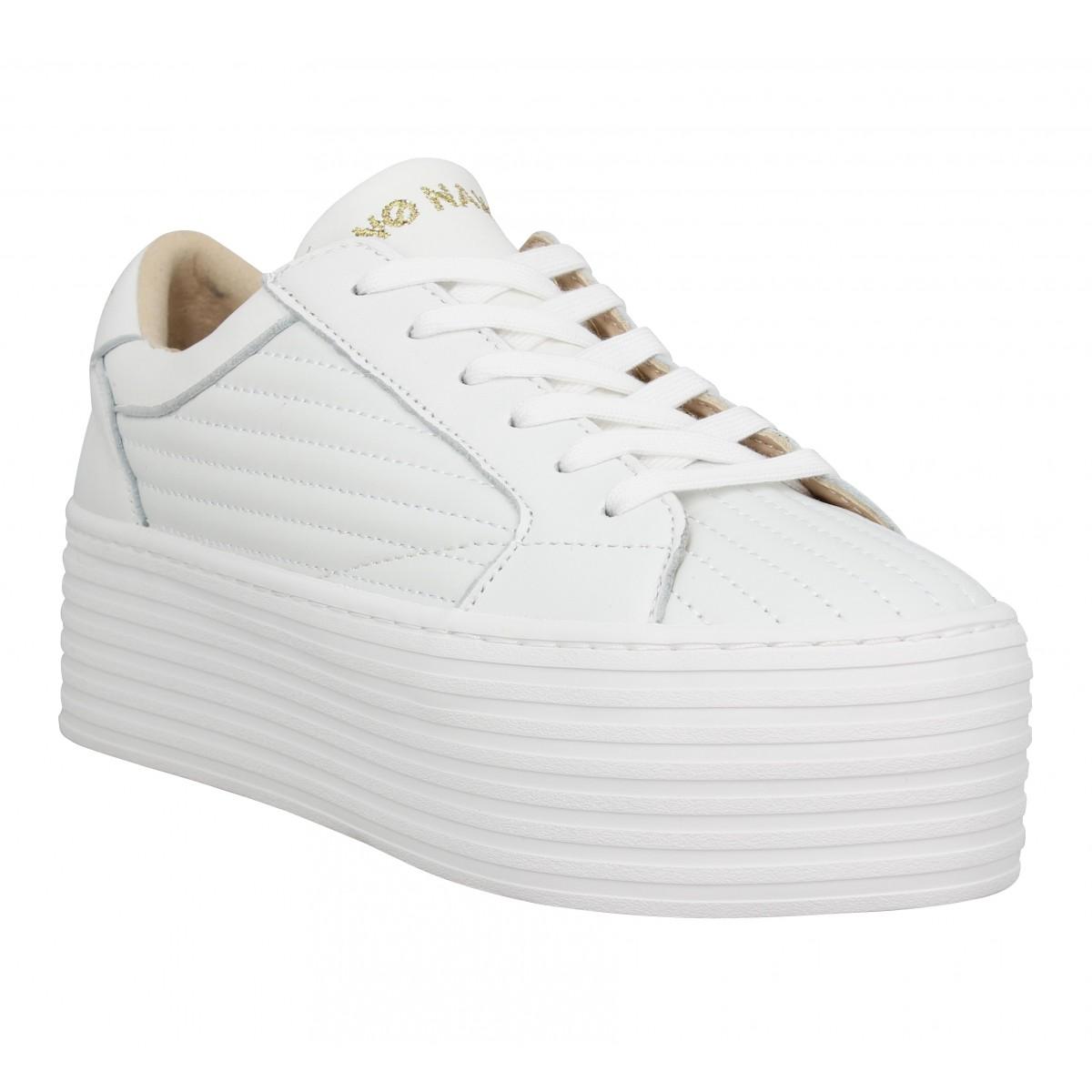 Baskets NO NAME Spice Sneaker lambskin Femme Blanc