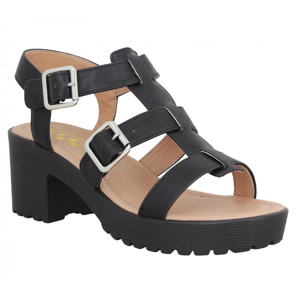 Sandales talons NO NAME Tango Sandal after Femme Noir