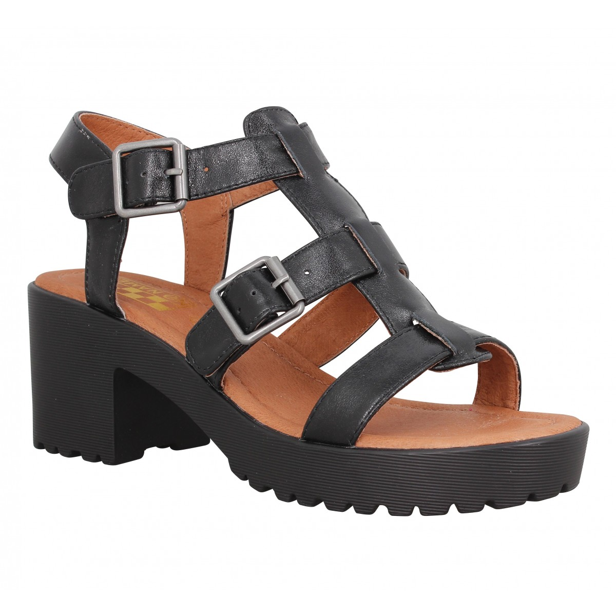 Sandales talons NO NAME Tango Sandal cuir Femme Black