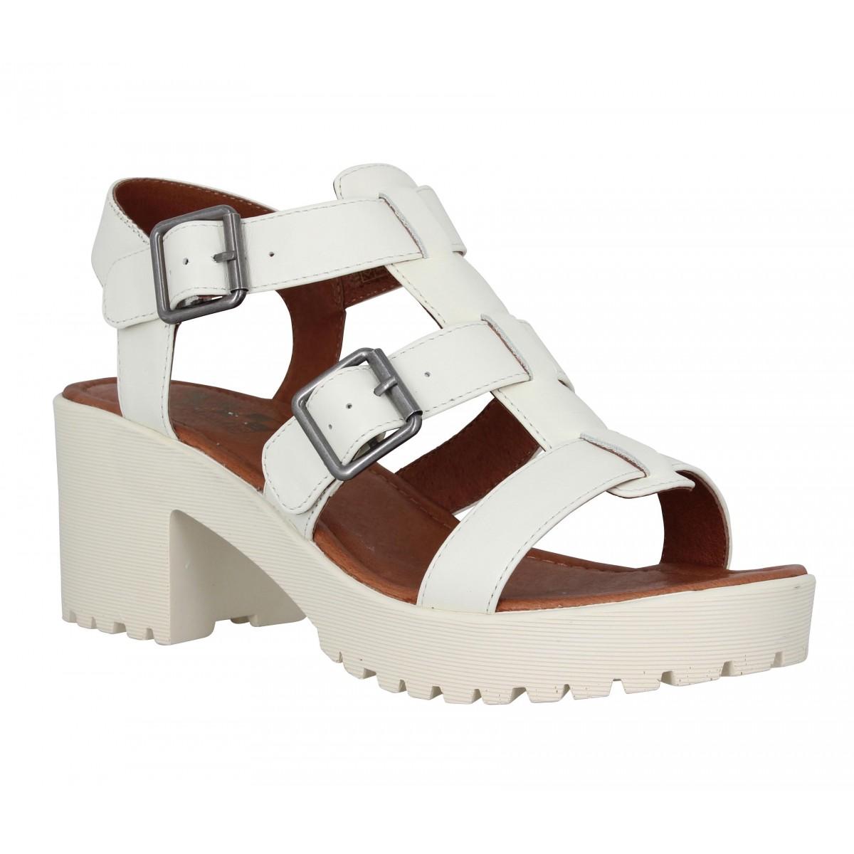 Sandales talons NO NAME Tango Sandal cuir Femme Dove