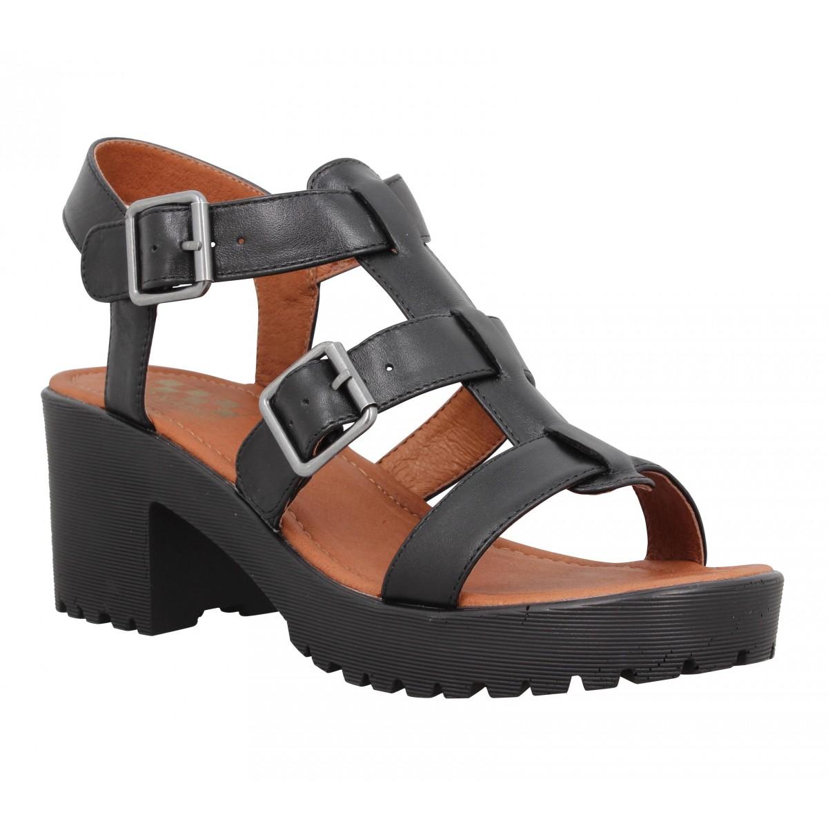 Sandales talons NO NAME Tango Sandal cuir Femme Noir