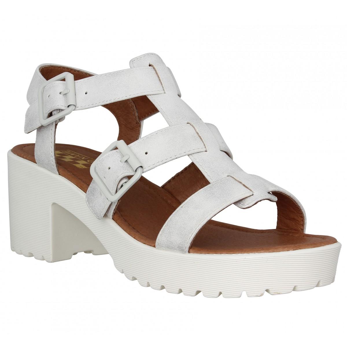Sandales talons NO NAME Tango Sandal glow Femme Blanc