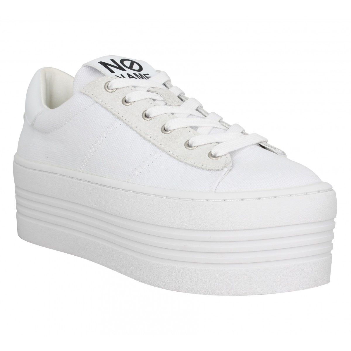 Baskets NO NAME Twin Sneaker toile Femme Blanc
