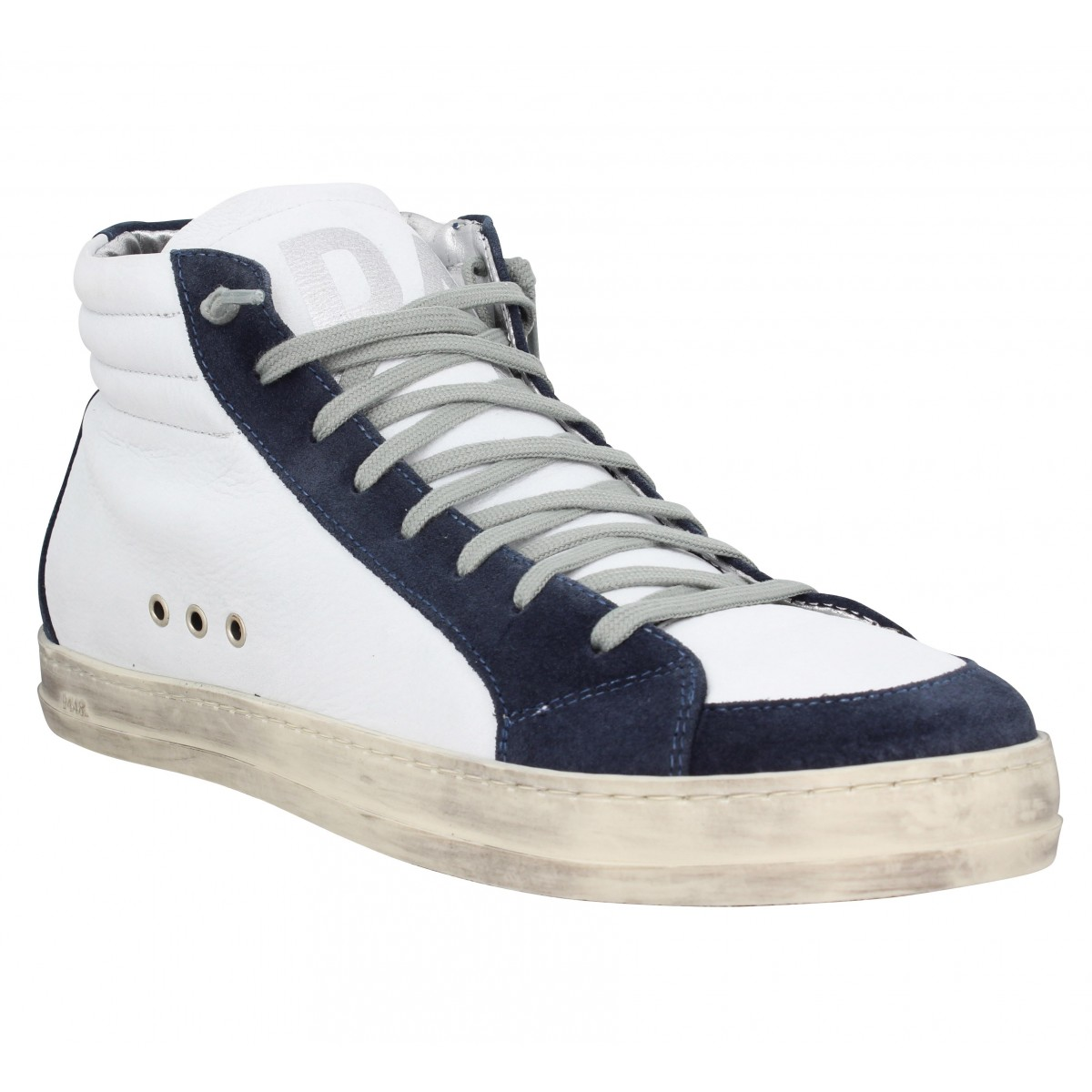 P448 Homme Skate Cuir Velours -40-blanc...