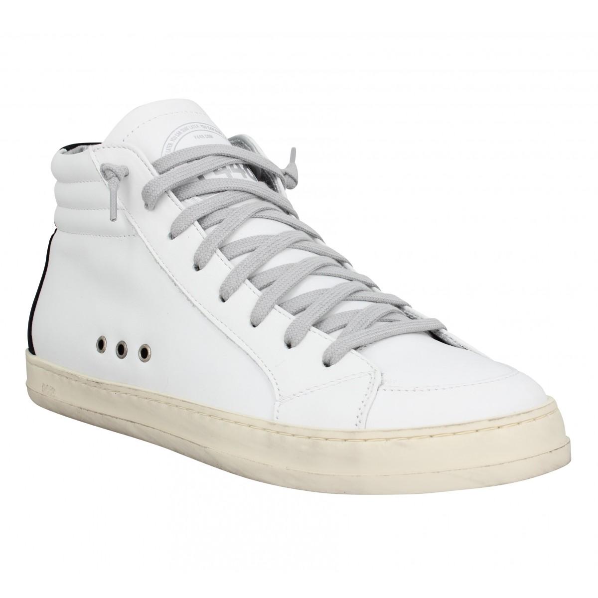 Baskets P448 Skate cuir velours Homme White Black