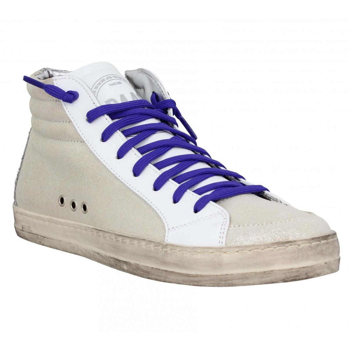 P448 Femme Skate Velours -35-blanc Spark