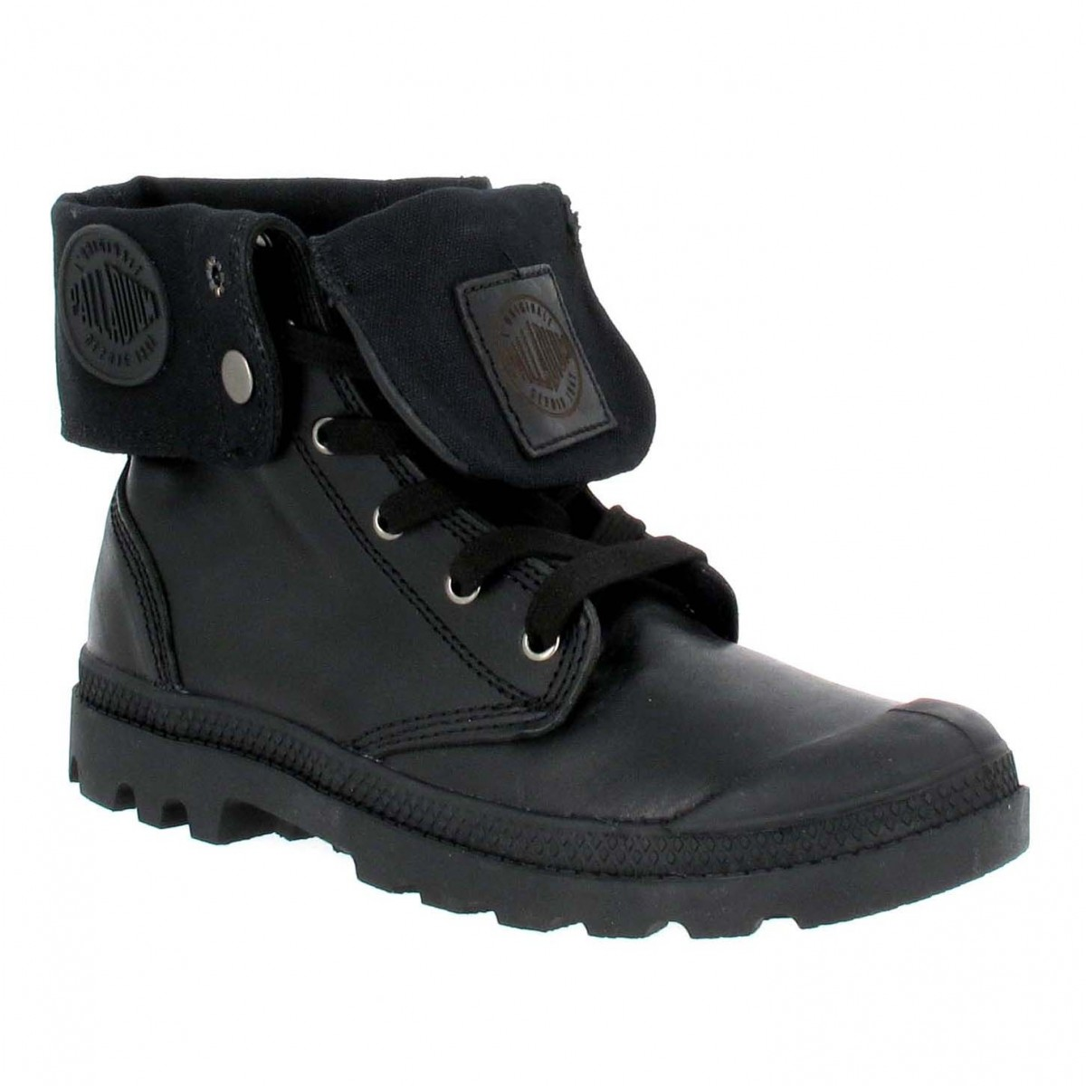 Bottines PALLADIUM Baggy cuir Homme Noir