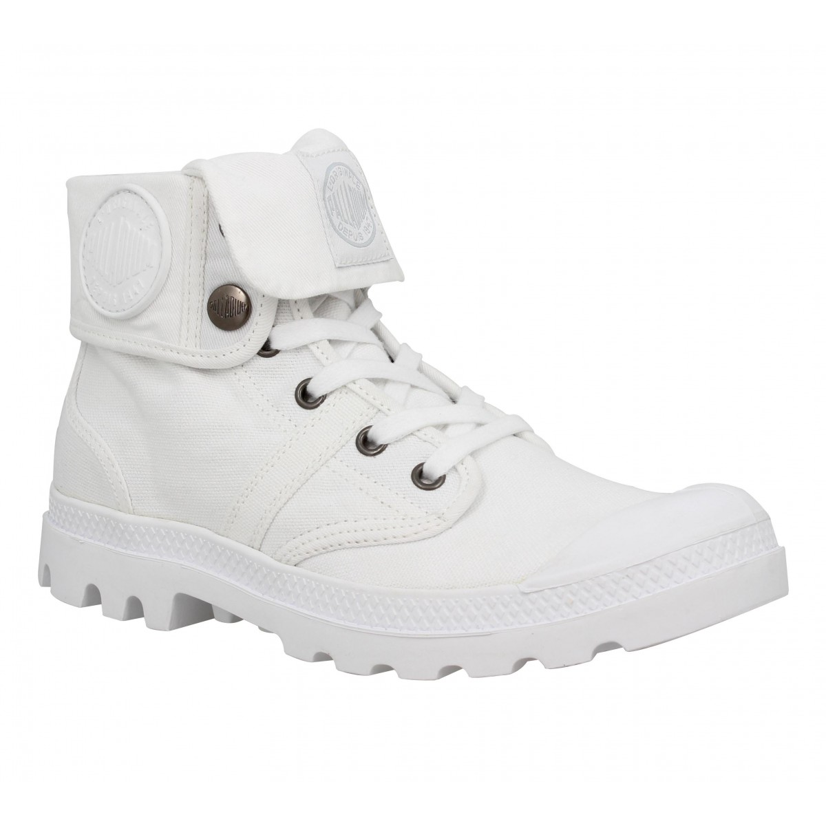 Bottines PALLADIUM Baggy CVS toile Homme Blanc