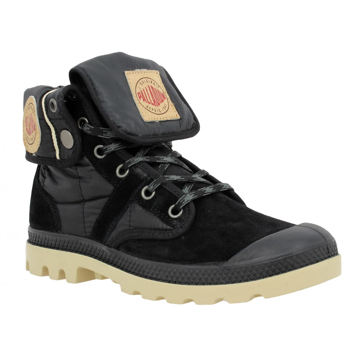 Bottines PALLADIUM Baggy Exp velours + textile Homme Noir