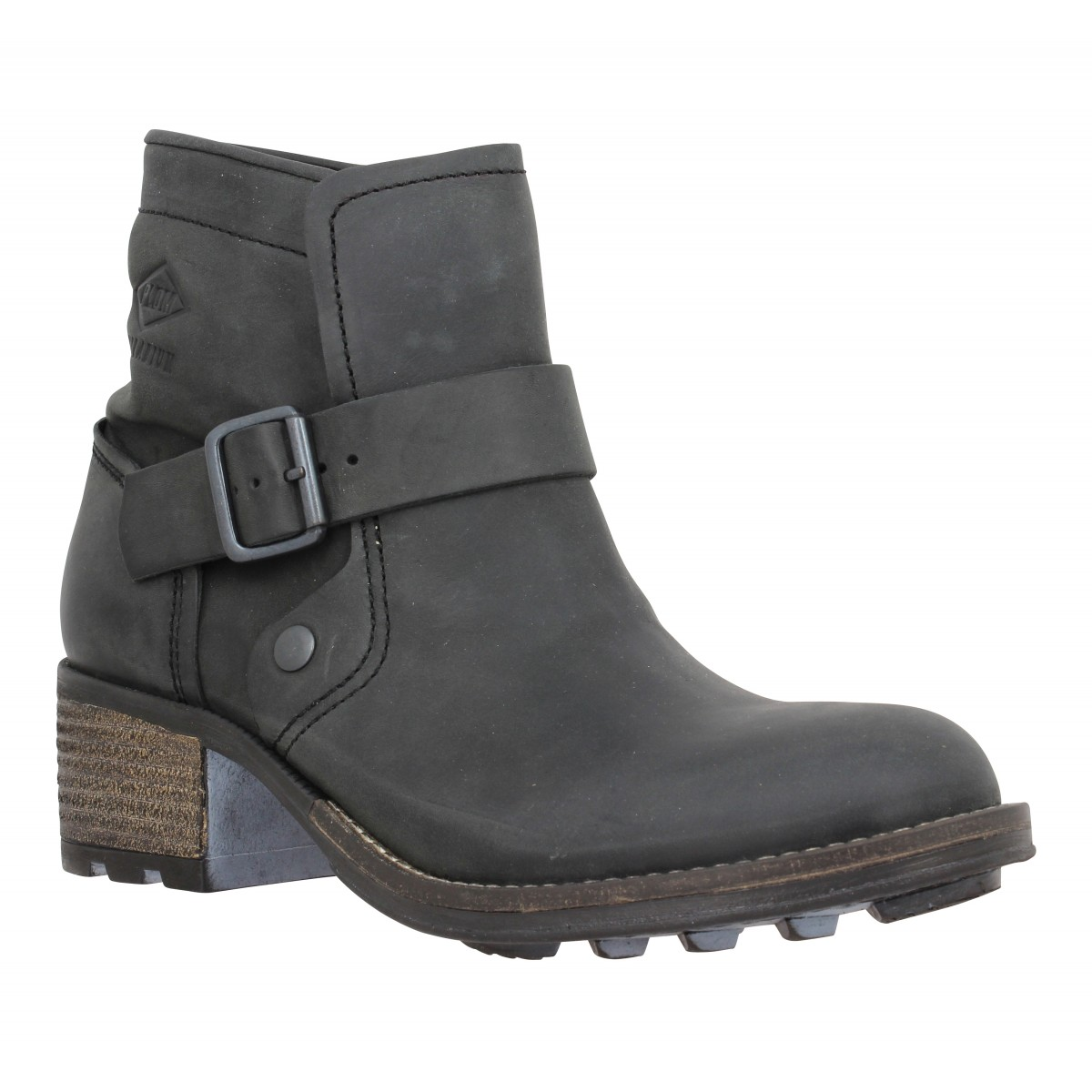 Bottines PALLADIUM Chester cuir Femme Black