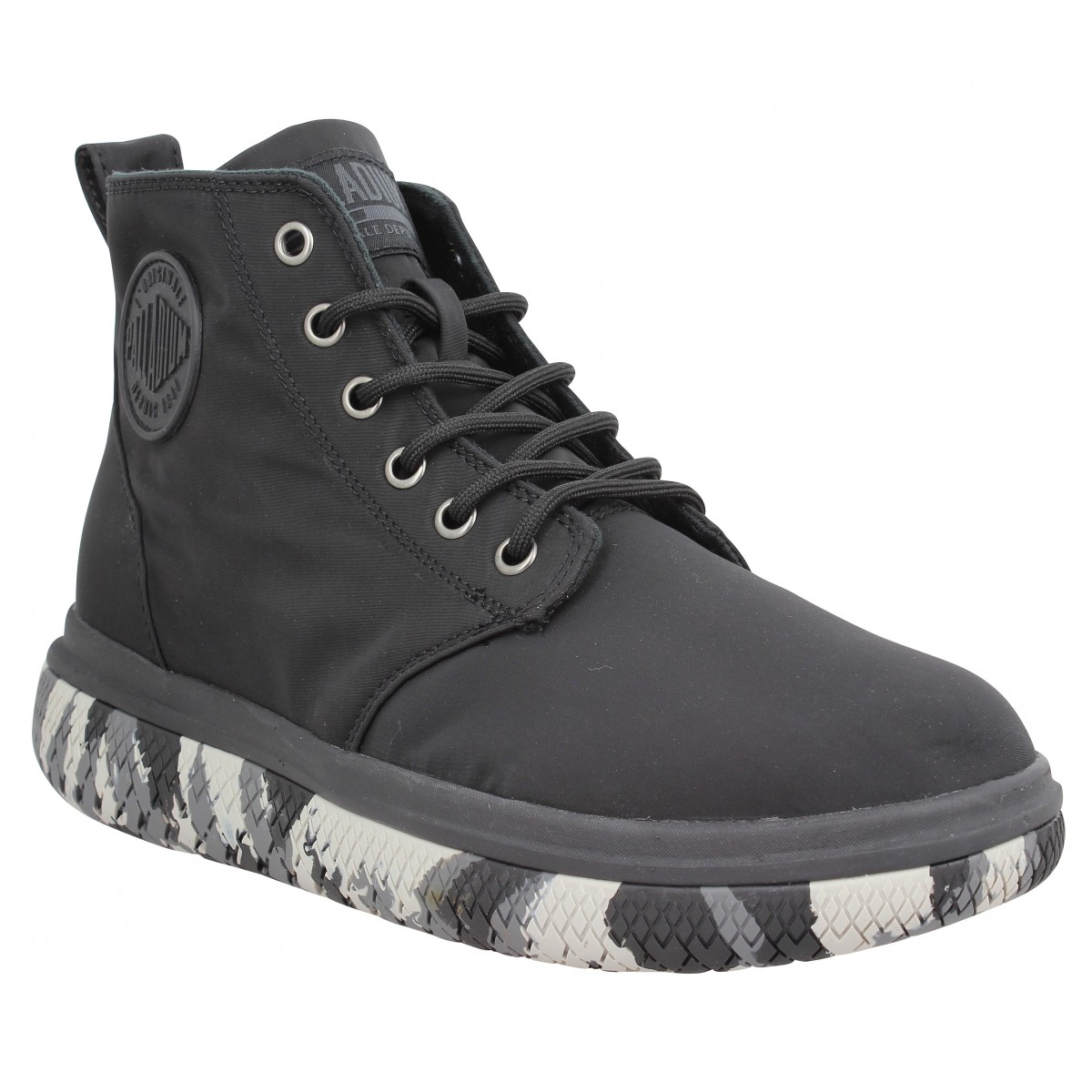 Bottines PALLADIUM Crushion toile Homme Noir
