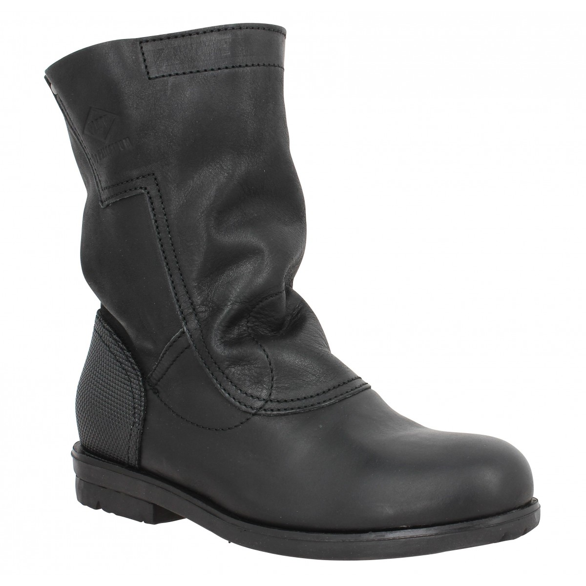 Bottines PALLADIUM Dove cuir Femme Black