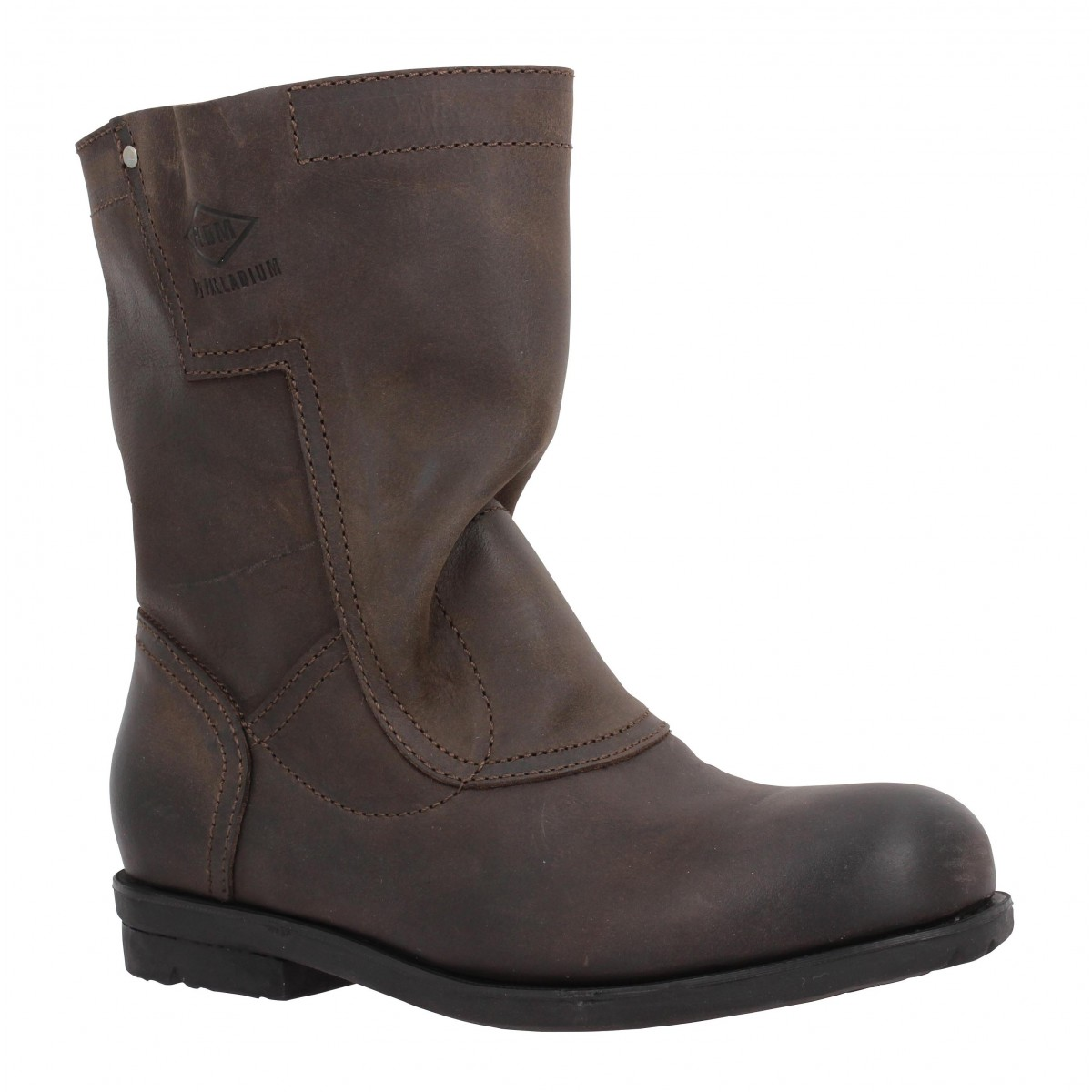 Bottines PALLADIUM Dove cuir Femme Dark Brown