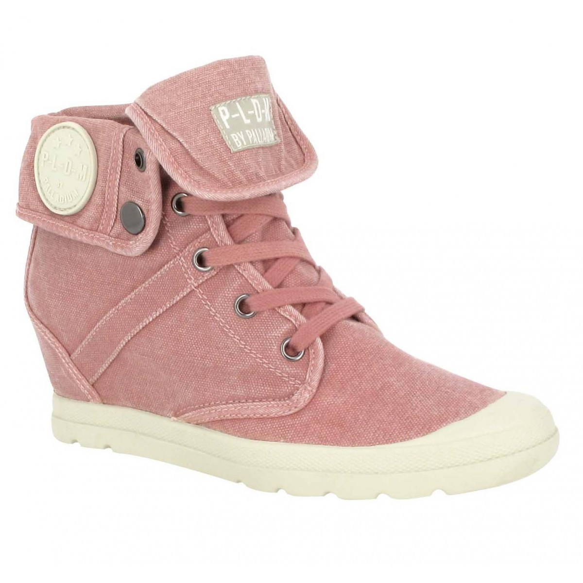 Bottines PALLADIUM Ecuador toile Femme Rose