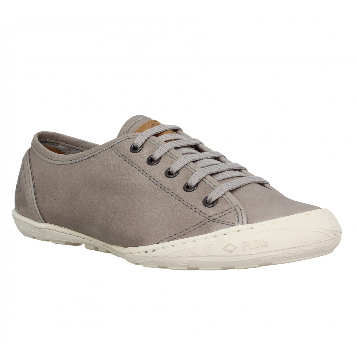 Baskets PALLADIUM Game Cash cuir Femme Taupe