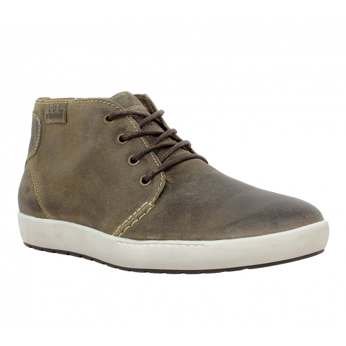 Baskets PALLADIUM Mumbai Rust velours gras Homme Antilope