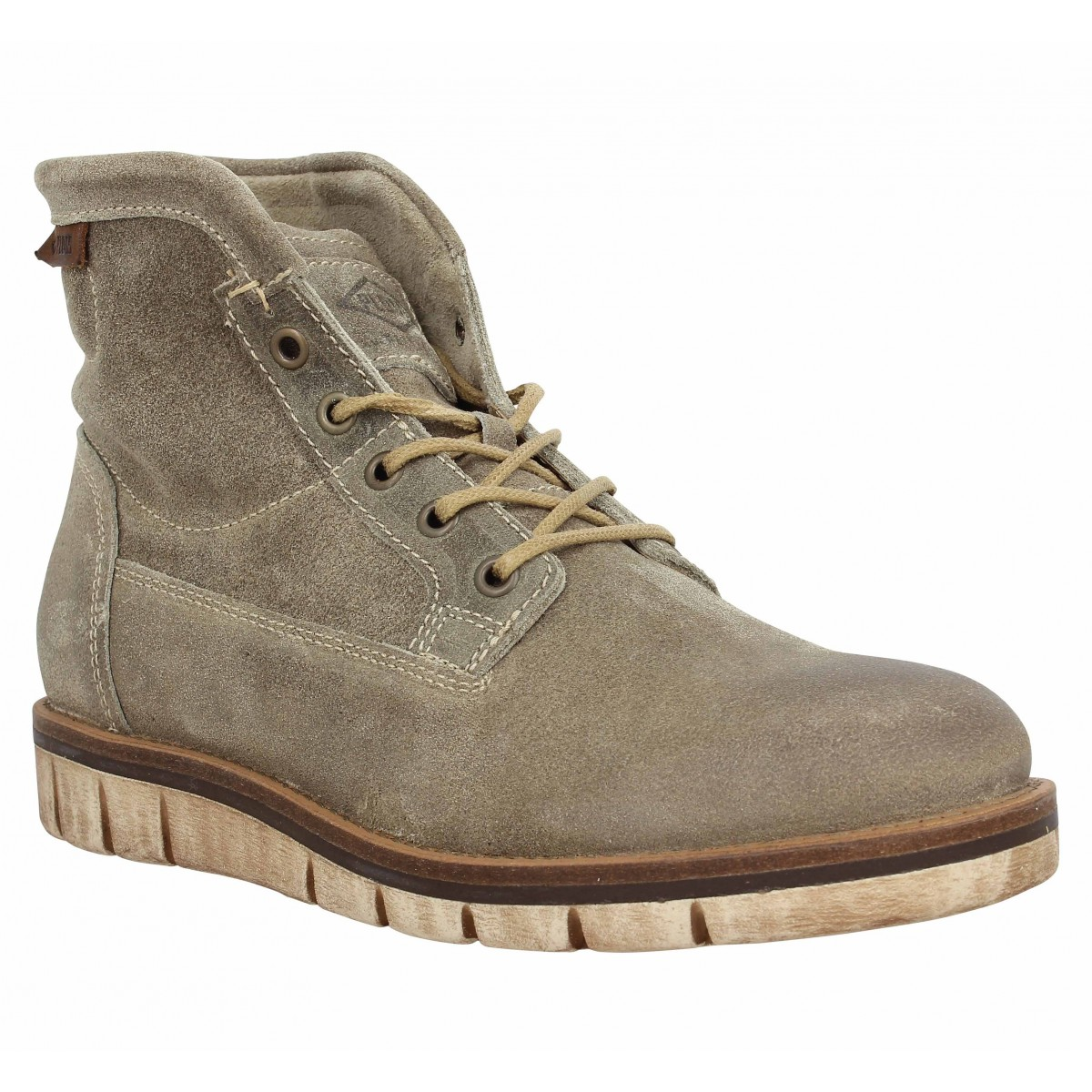 Bottines PALLADIUM Norco velours Homme Taupe
