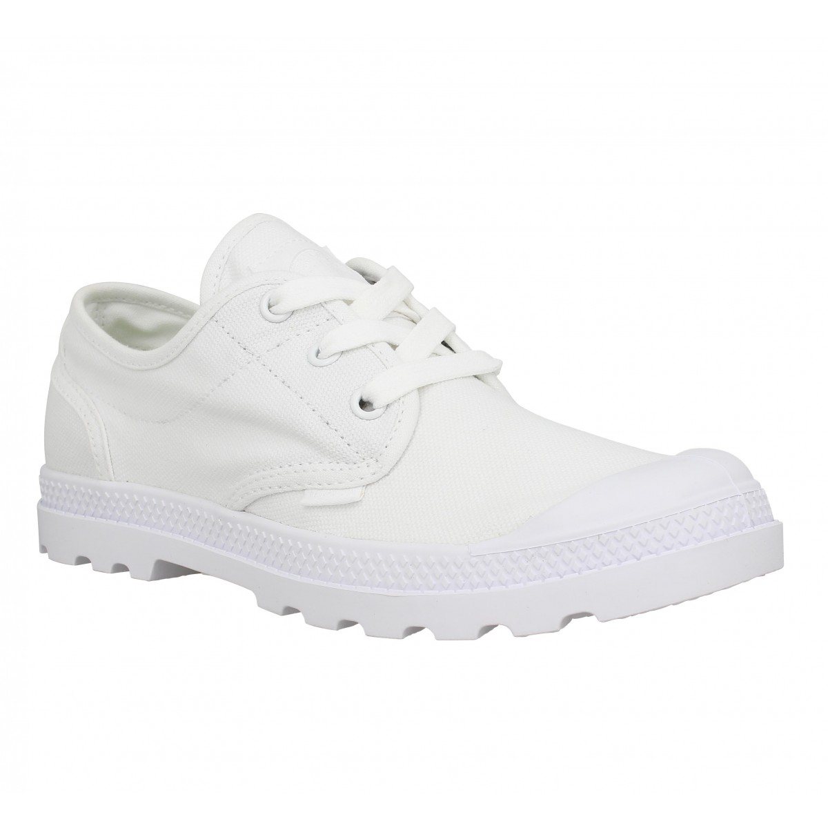 Baskets PALLADIUM Oxford Lite toile Femme Blanc Vapor