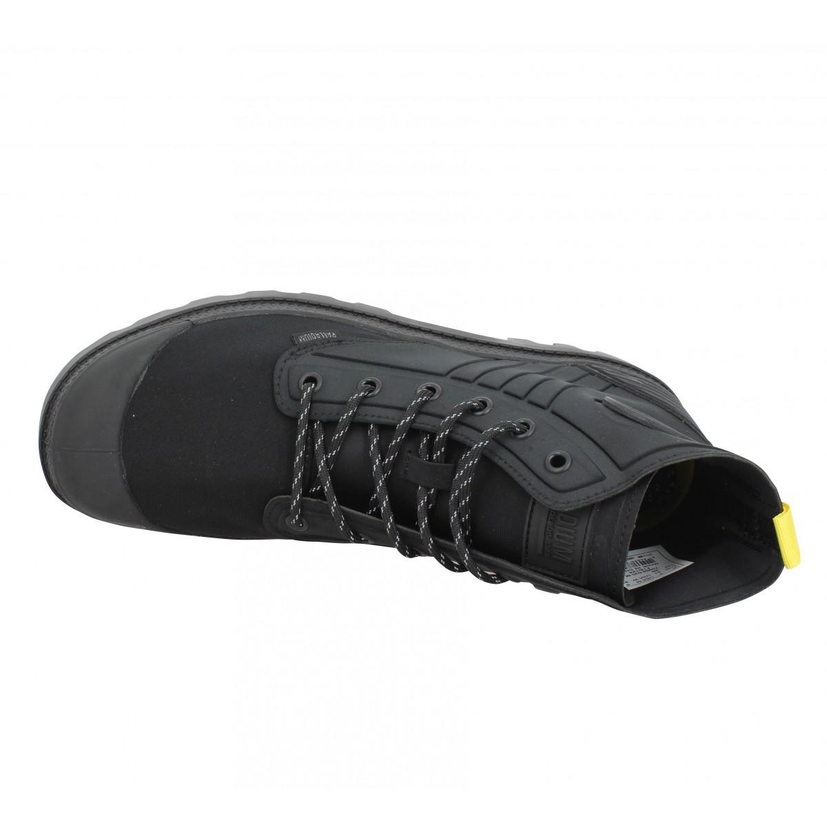 Fanny Toile Palladium Homme Noir Pampa Amphibian Chaussures ExqXO