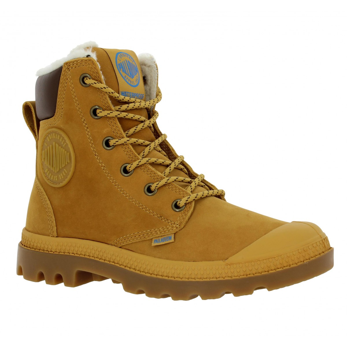 Bottines PALLADIUM Pampa Sport nubuck Femme Gold