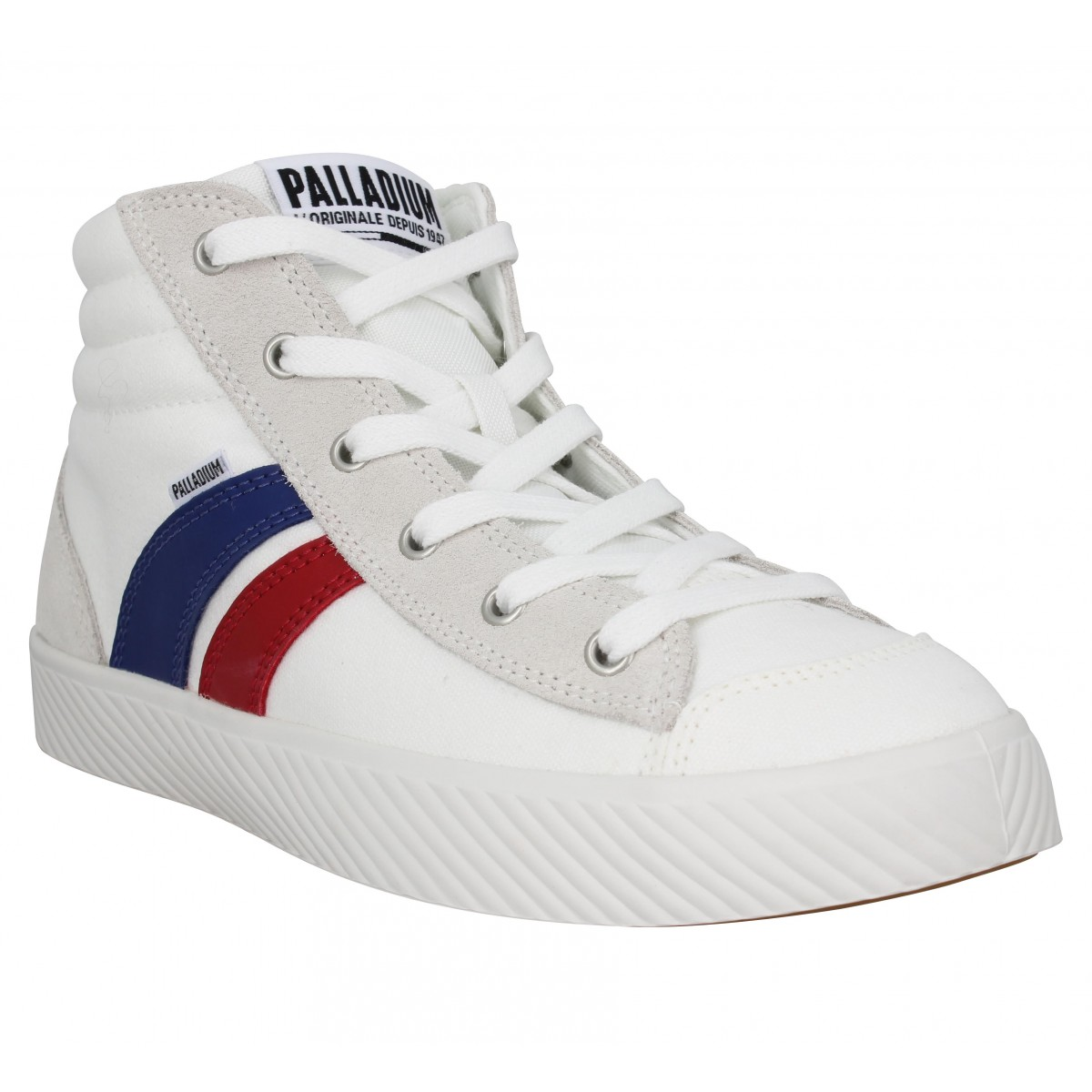 Baskets PALLADIUM PL Phoenix LCR U toile Blanc