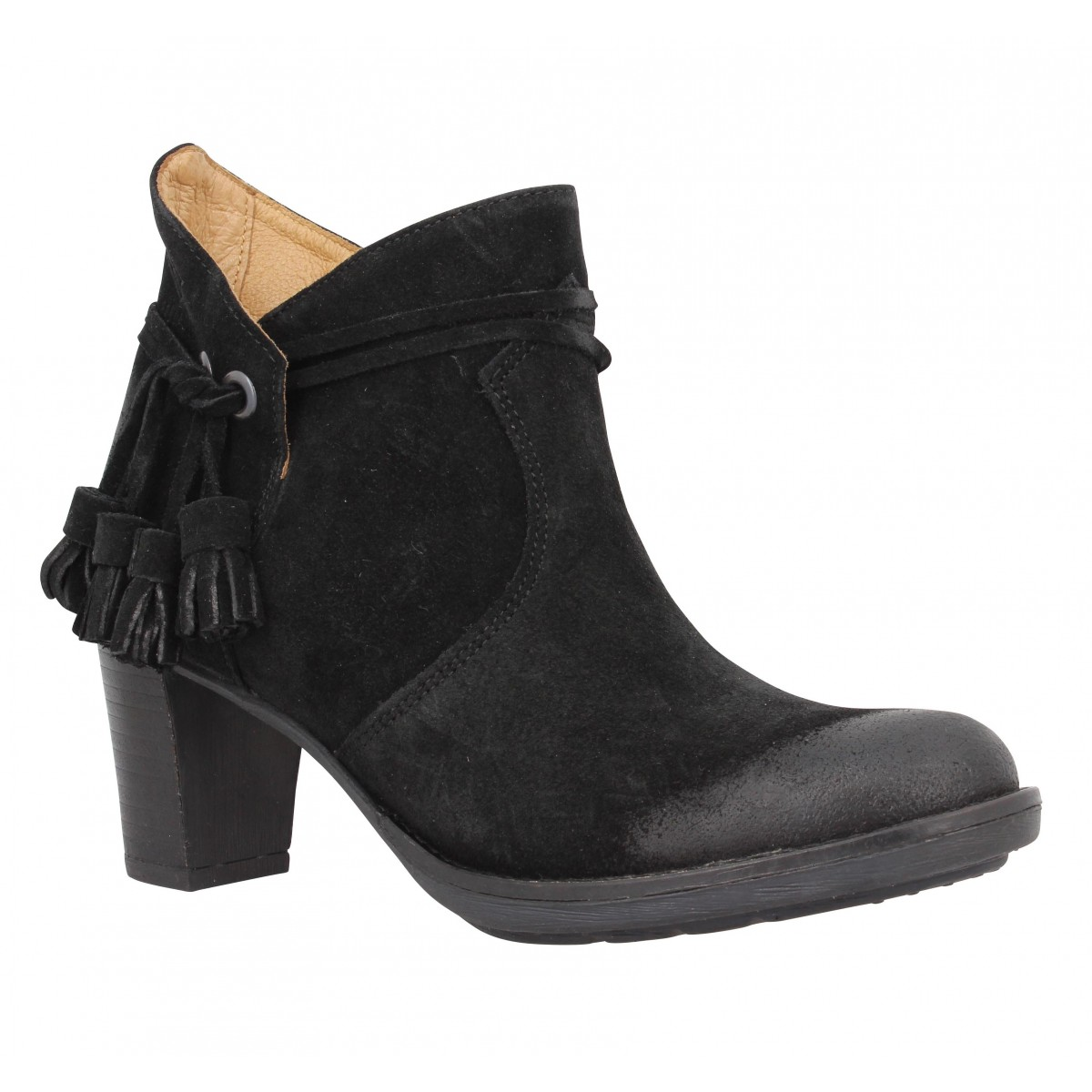 Bottines PALLADIUM Siskin Sud velours Femme Black