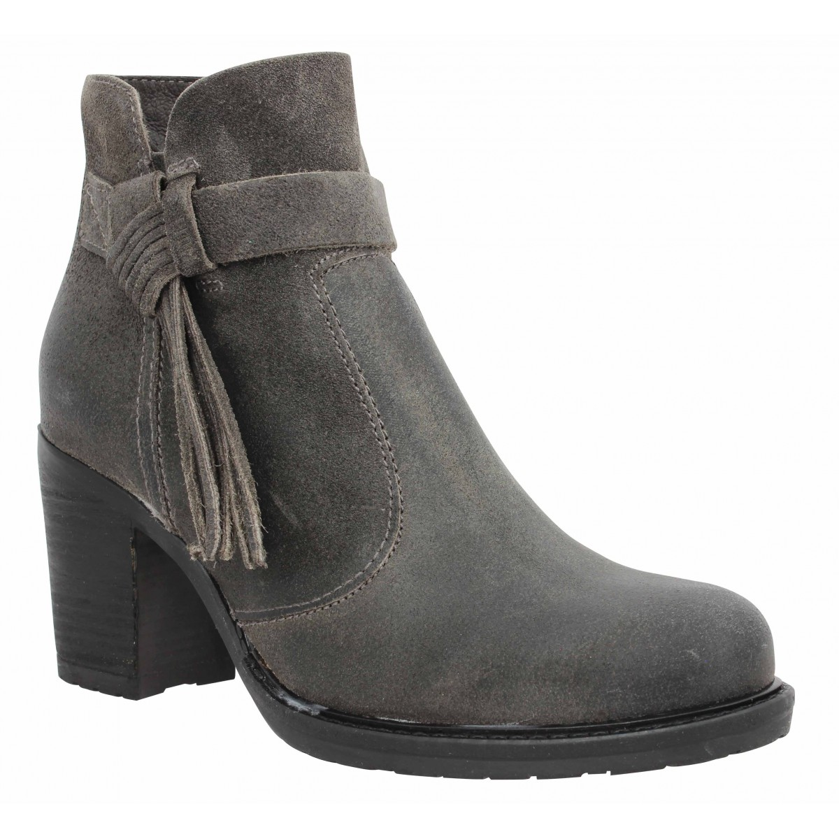 Bottines PALLADIUM Soria nubuck Femme Anthracite