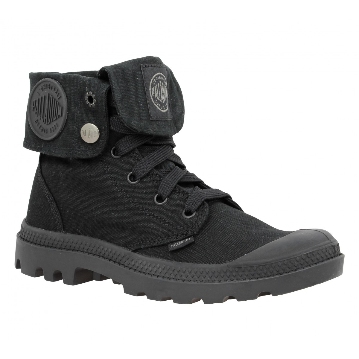 Bottines PALLADIUM US Baggy Monochrome toile Homme Noir