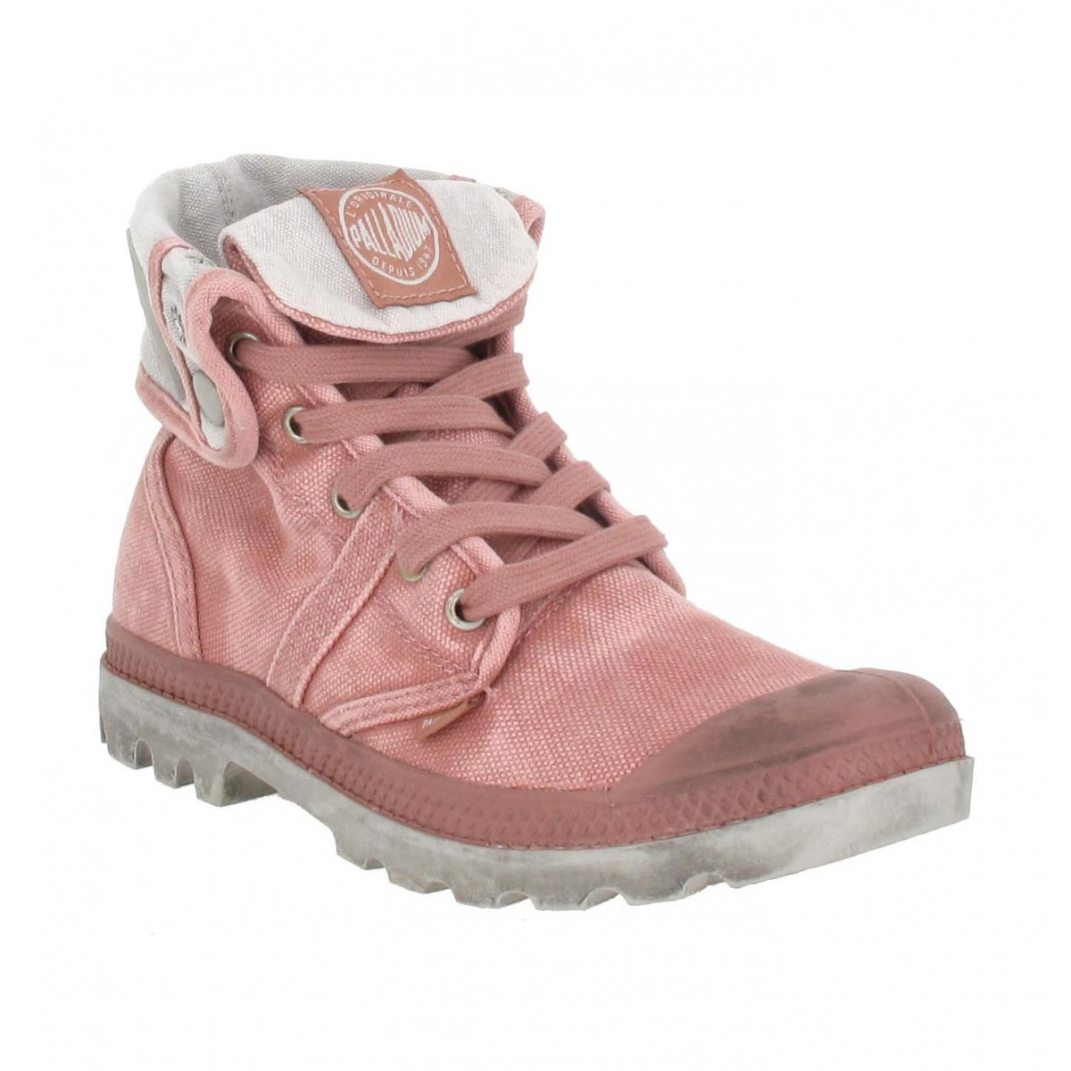 Bottines PALLADIUM US Baggy toile Femme Rose