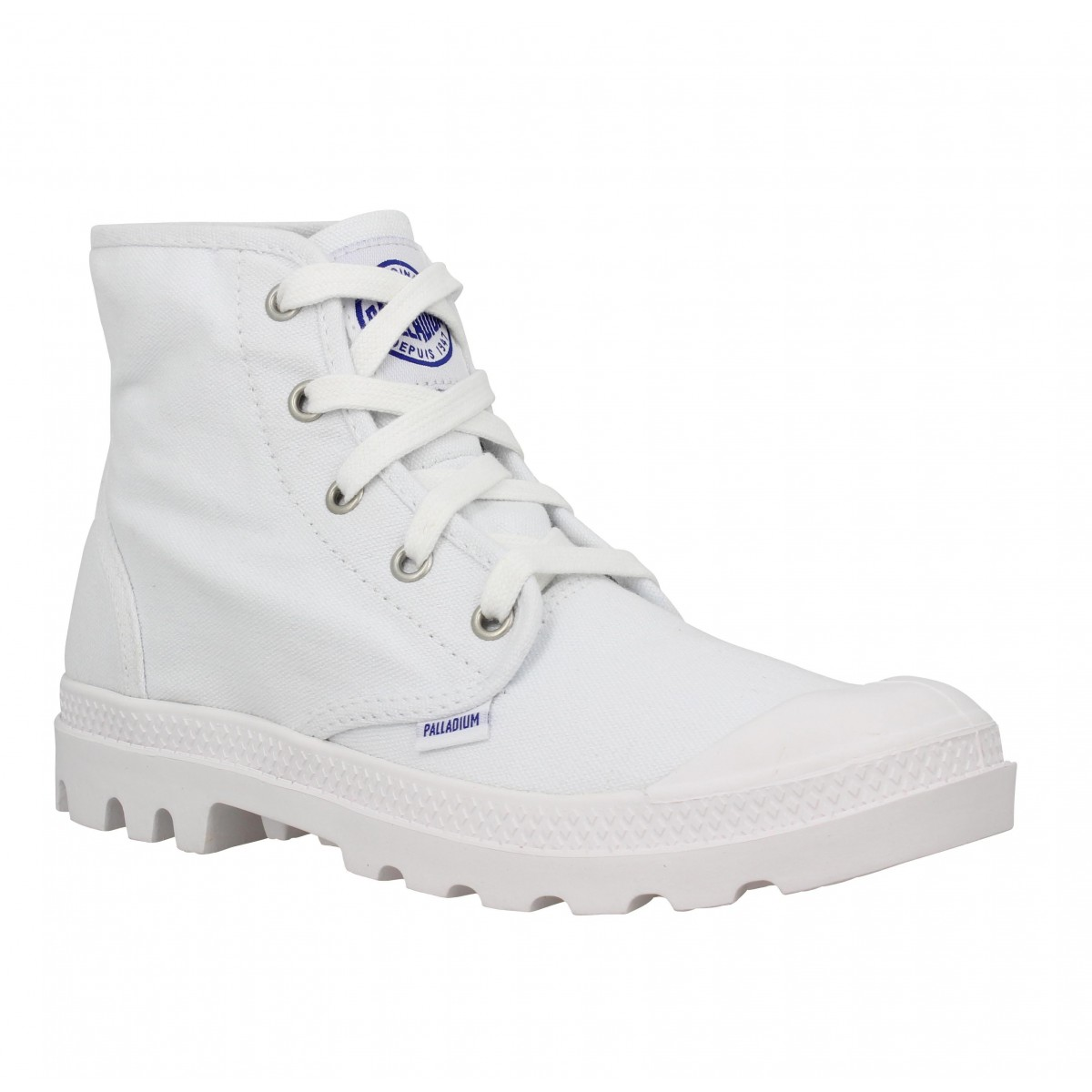 Bottines PALLADIUM US Pampa Hi toile Femme Blanc