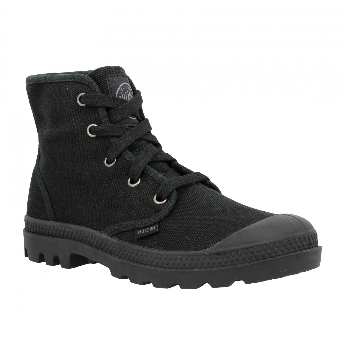 Bottines PALLADIUM US Pampa Hi toile Femme Noir