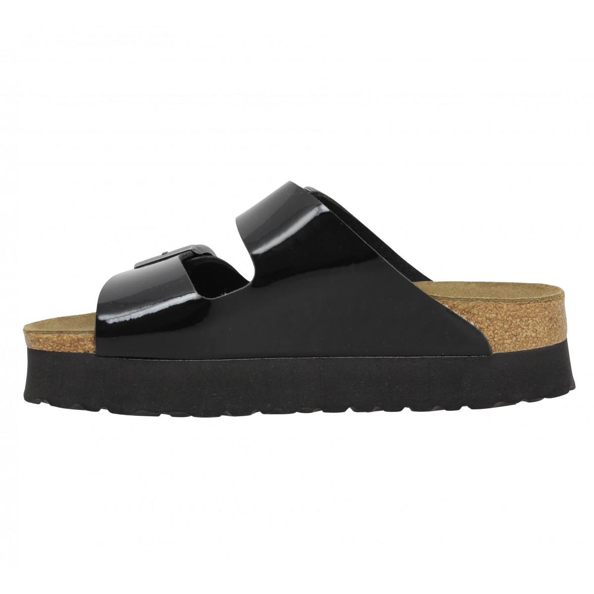 soldes papillio arizona platform birko flor vernis femme noir fanny chaussures. Black Bedroom Furniture Sets. Home Design Ideas
