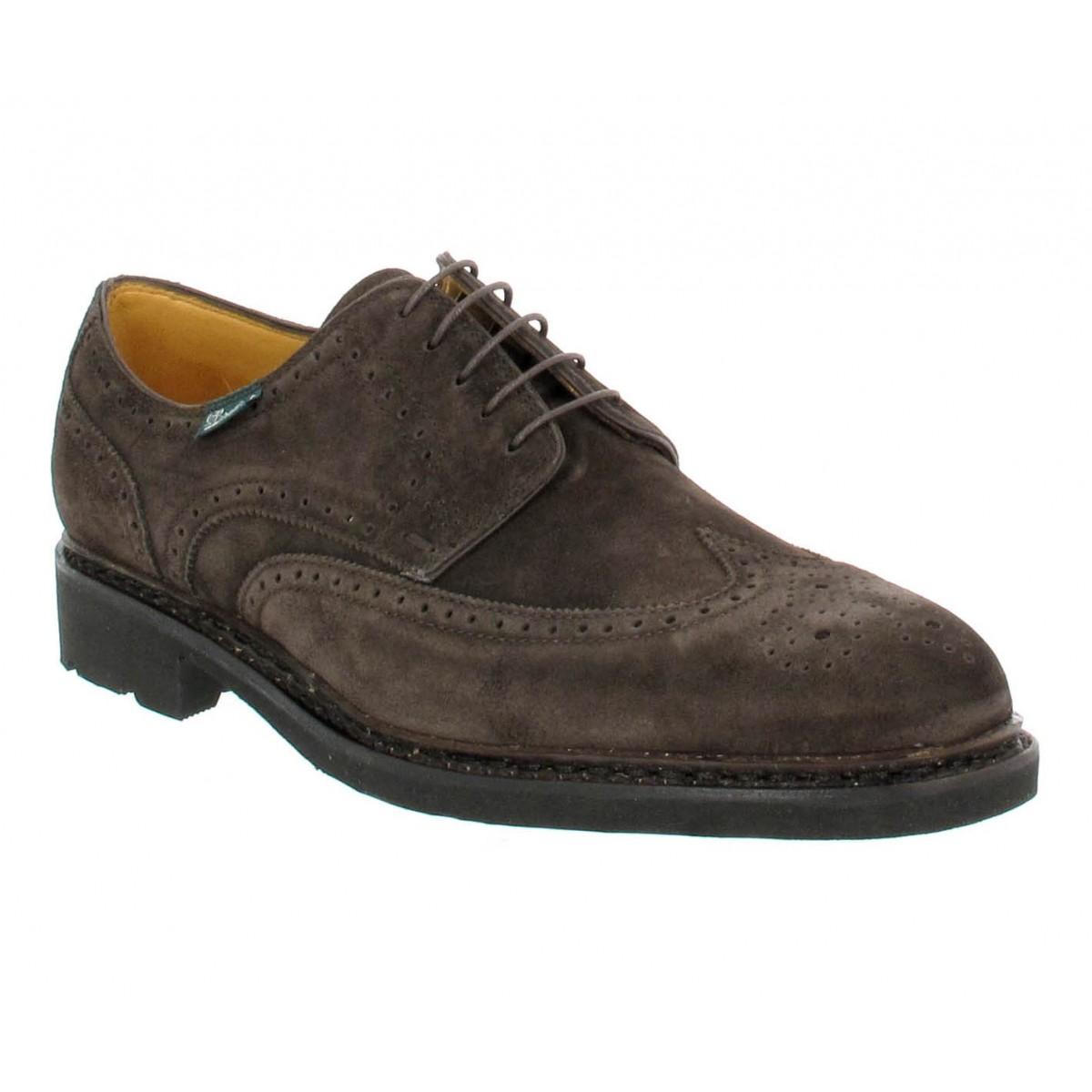 Chaussures à lacets PARABOOT Andersen velours Homme Marron