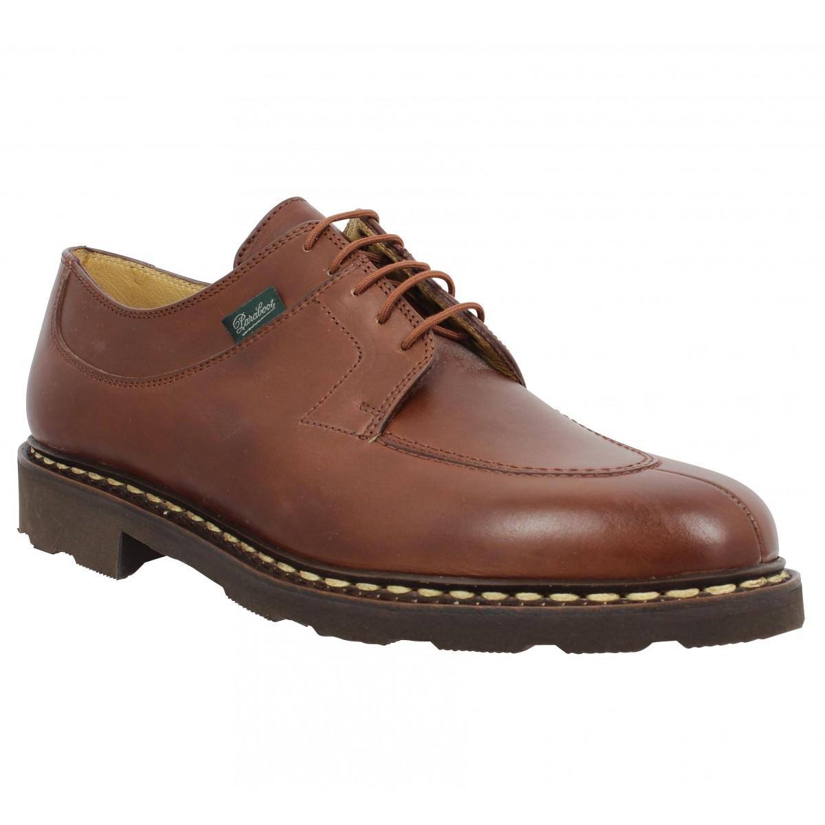 Chaussures à lacets PARABOOT Avignon cuir Homme Marron