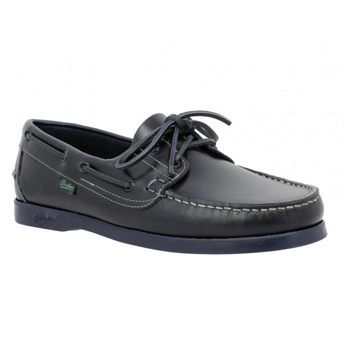 Chaussures bateaux PARABOOT Barth cuir Homme Marine