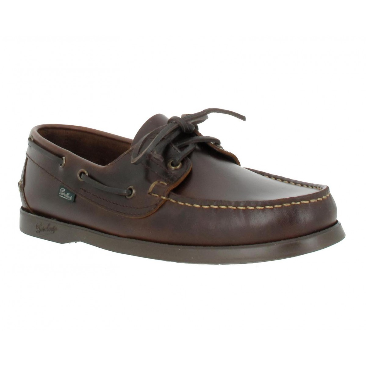 Chaussures bateaux PARABOOT Barth cuir Homme Marron America