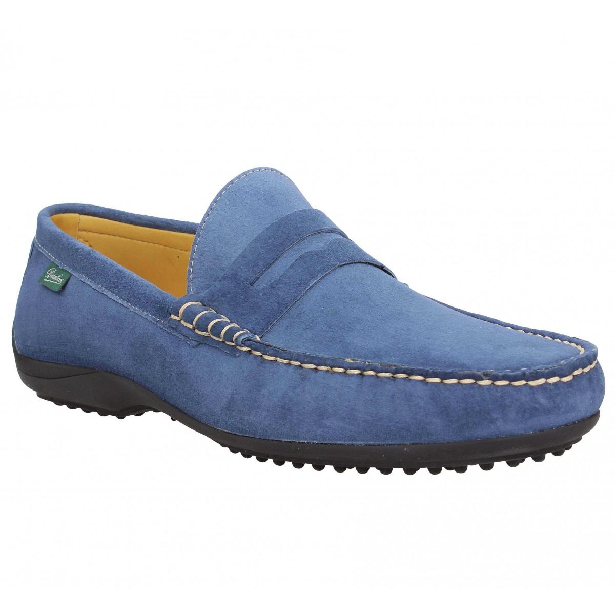 Mocassins PARABOOT Cabrio velours Homme Bleu