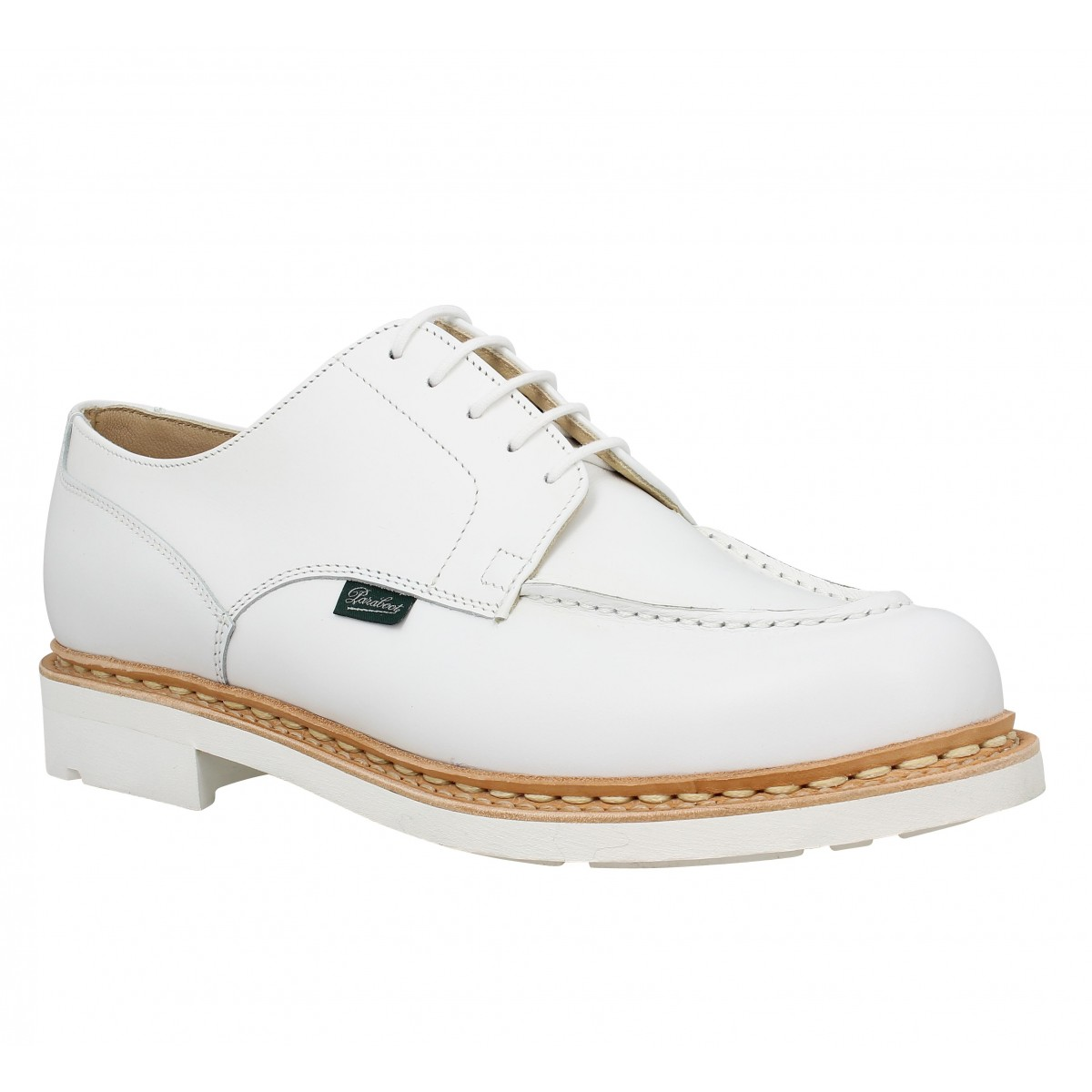 Chaussures à lacets PARABOOT Chambord cuir Homme Blanc