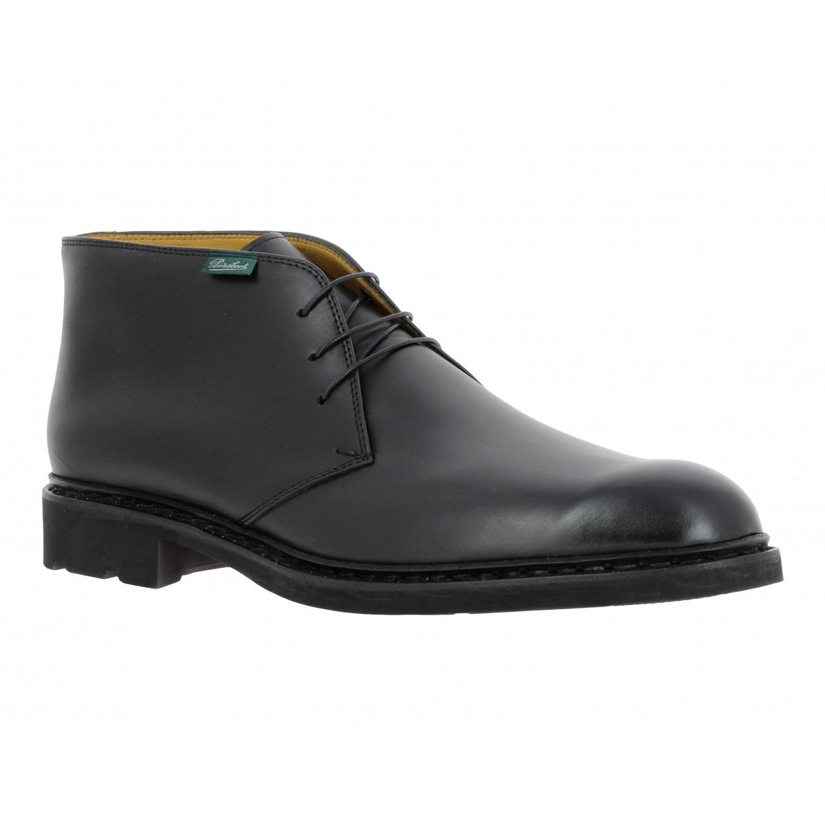 chaussures lully Paraboot homme noir Fanny cuir X7xqc0BU