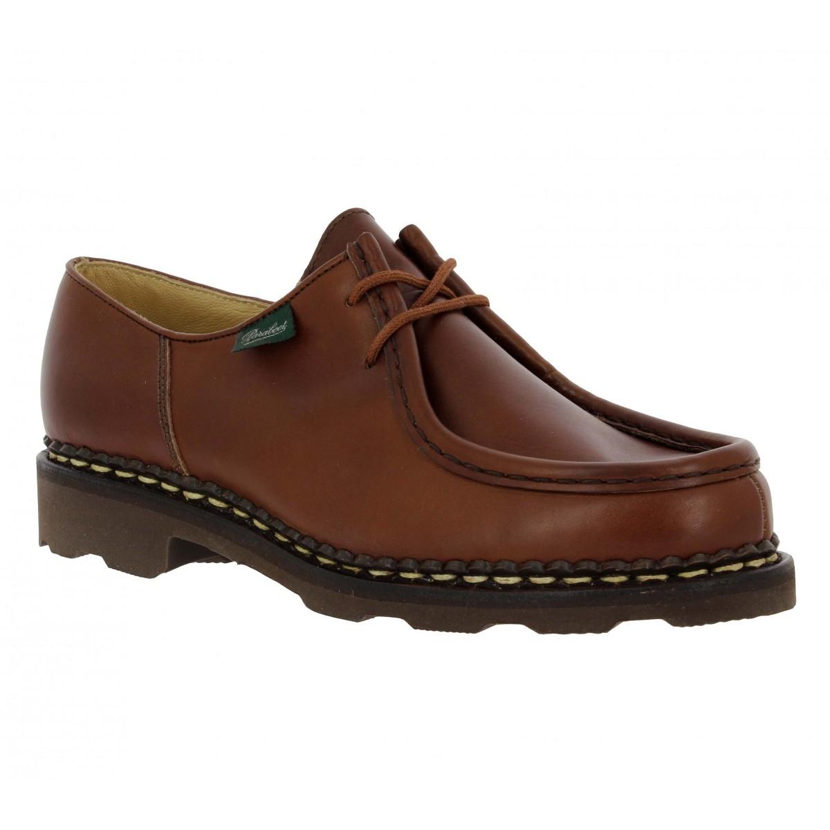 Chaussures à lacets PARABOOT Michael cuir Femme Marron