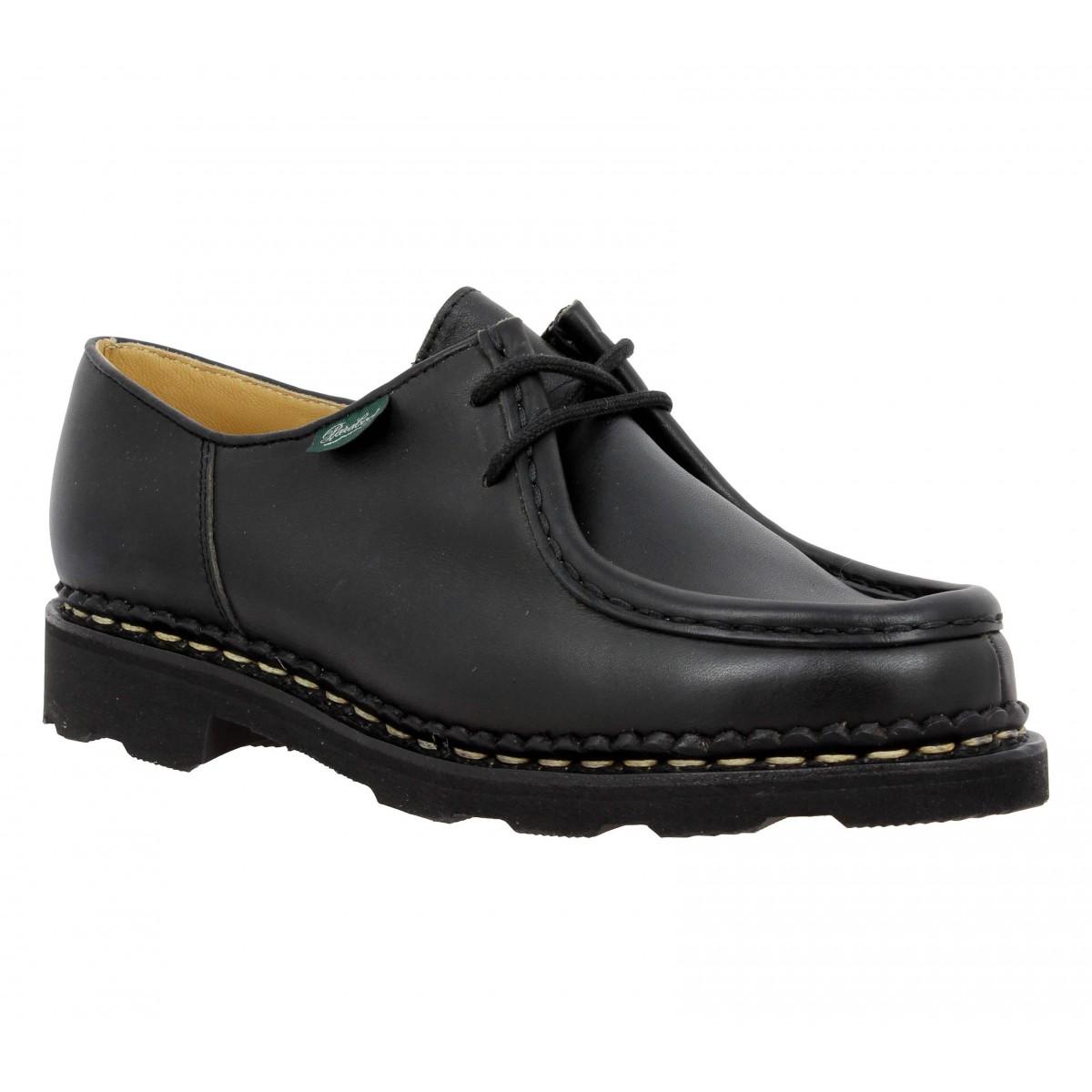 Chaussures à lacets PARABOOT Michael cuir Femme Noir