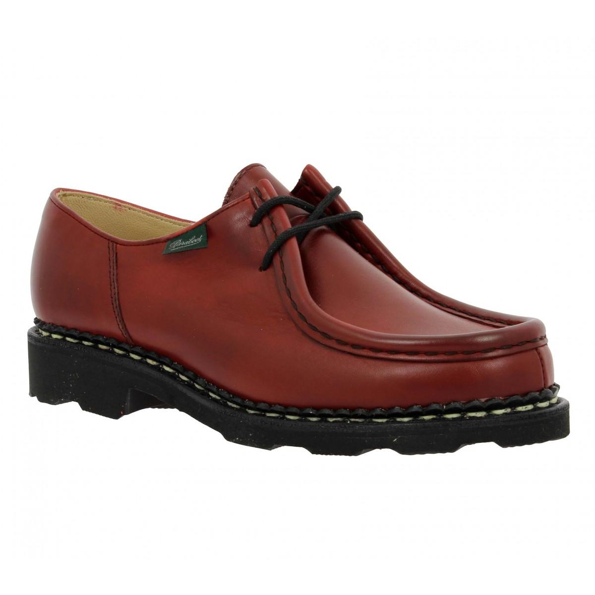 Chaussures à lacets PARABOOT Michael cuir Femme Rouge