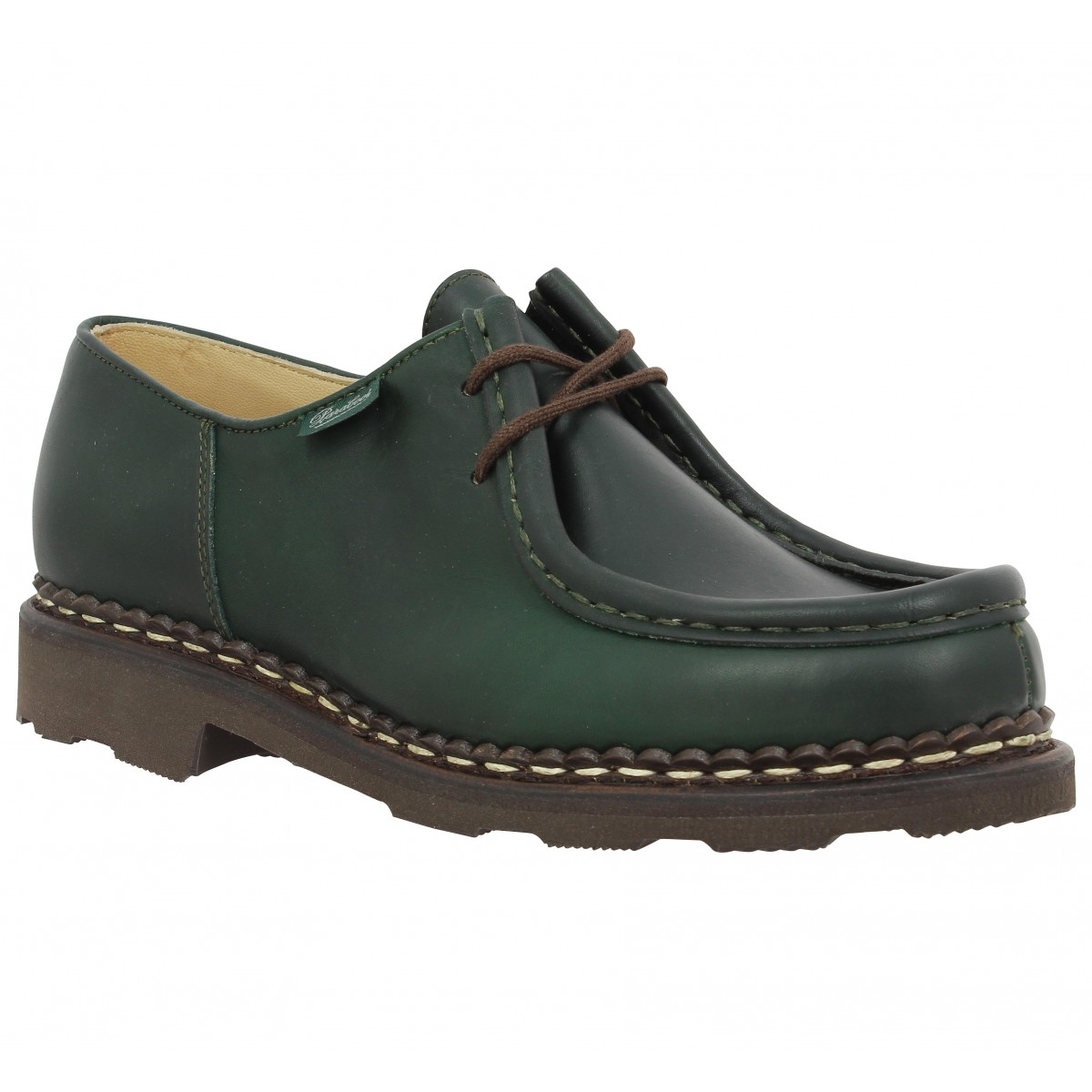 Chaussures à lacets PARABOOT Michael cuir Femme Vert