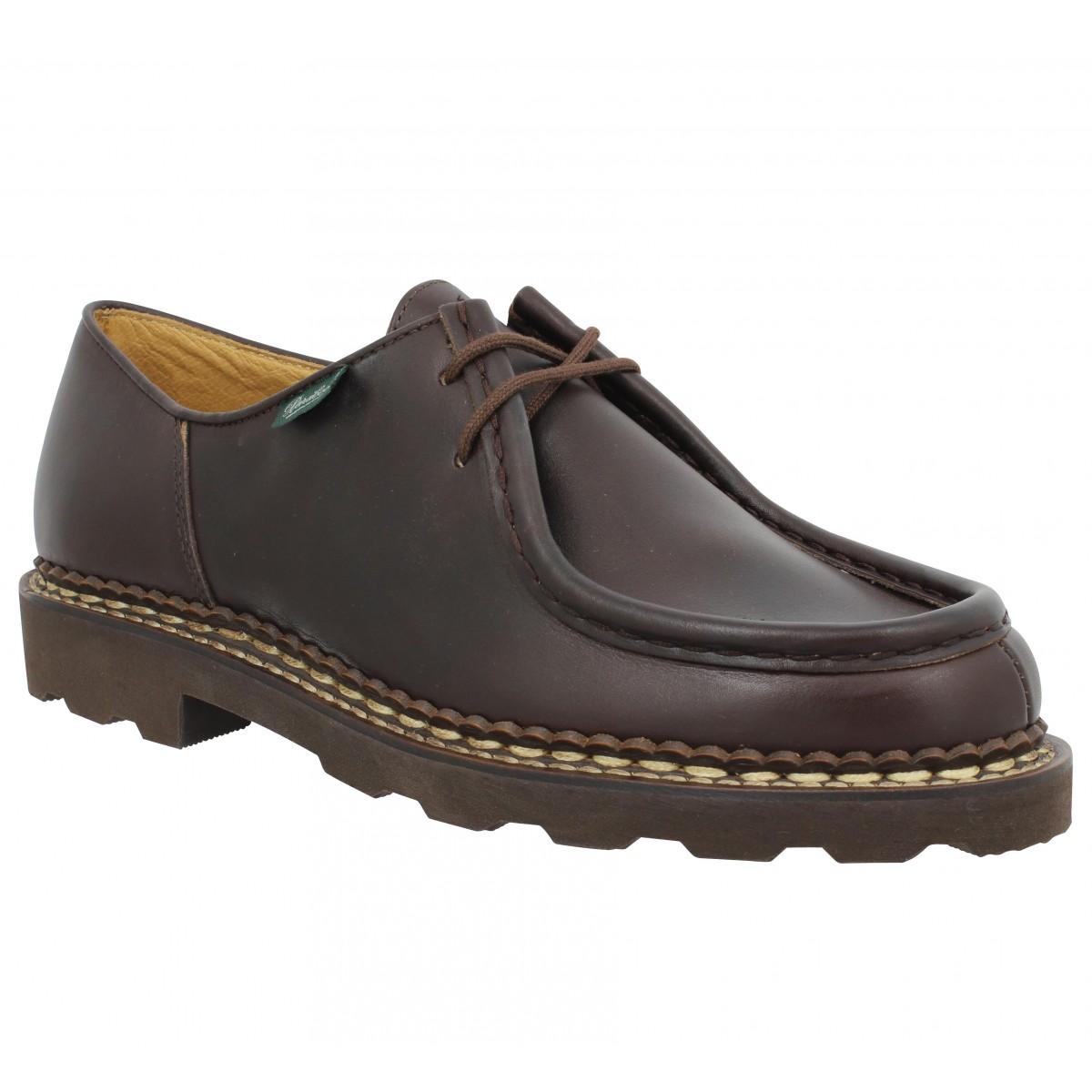 Chaussures à lacets PARABOOT Michael cuir Homme Cafe