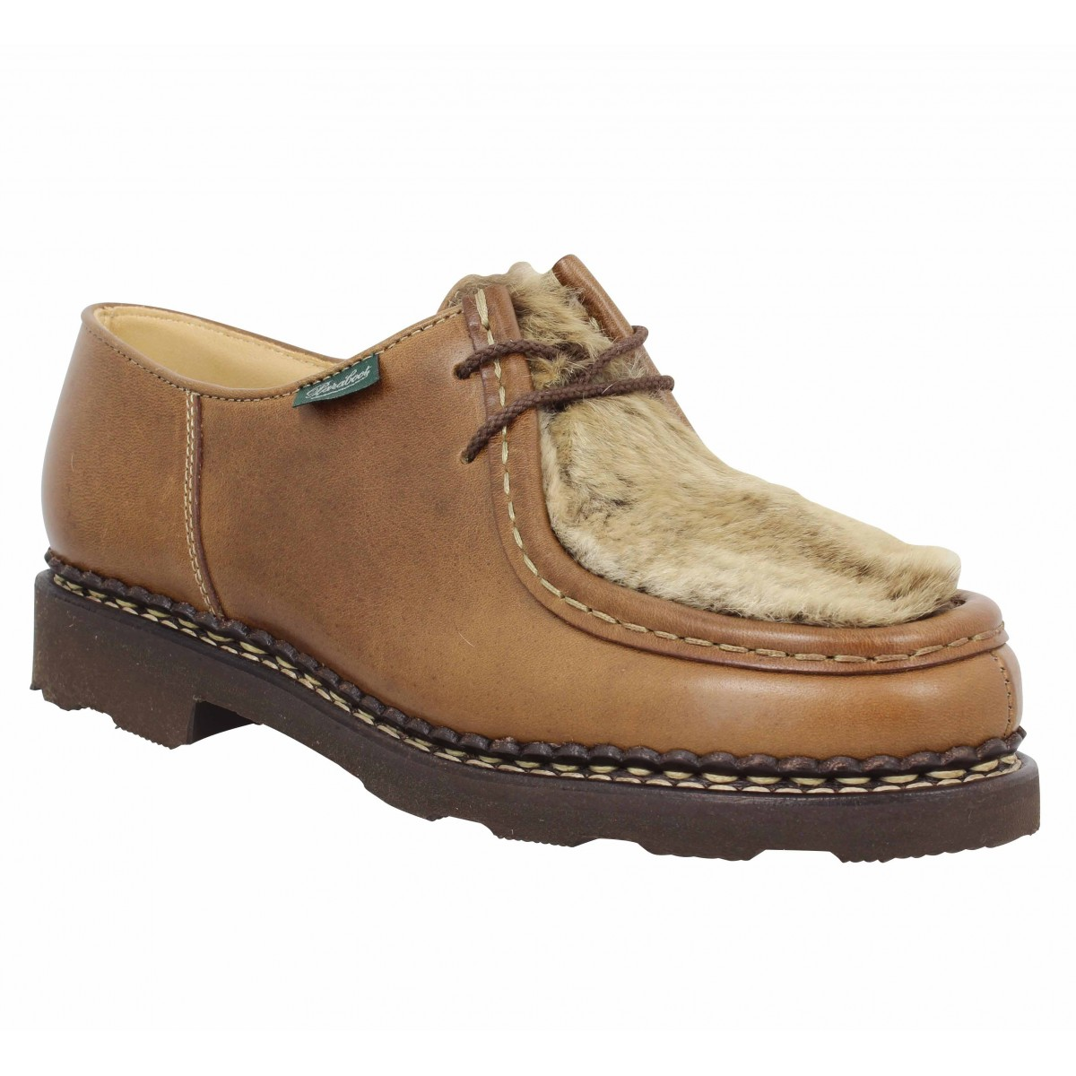Chaussures à lacets PARABOOT Michael Lapin cuir Femme Naturel