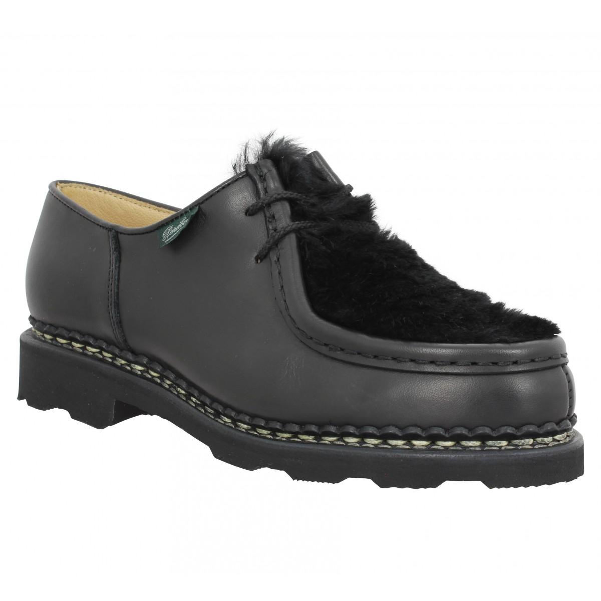 Chaussures à lacets PARABOOT Michael Lapin cuir Femme Noir